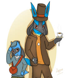 Professor Lucayton and Rioluke by lupyne