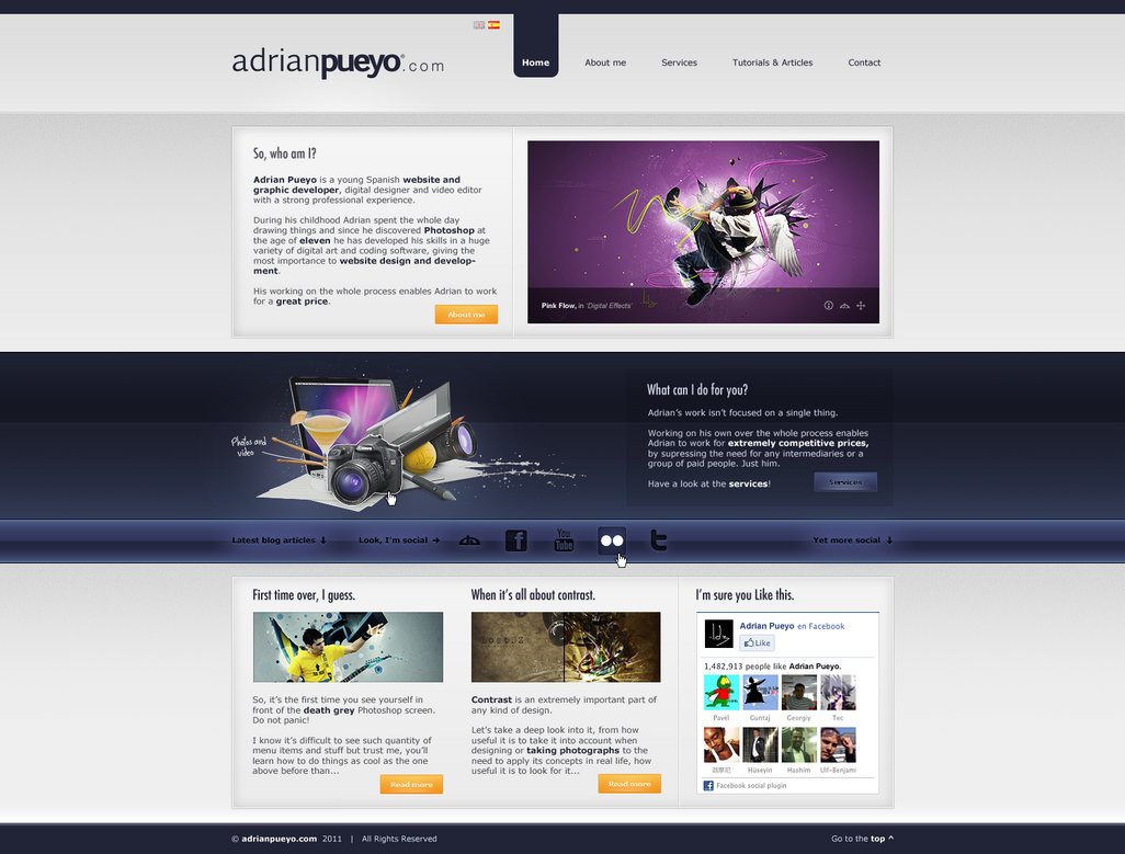 adrianpueyo com by lostdz d3ar90p Web Interface Roundup of Web Design Inspiration
