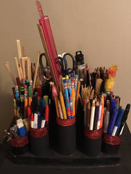 Pencil, pen, (etc) holder