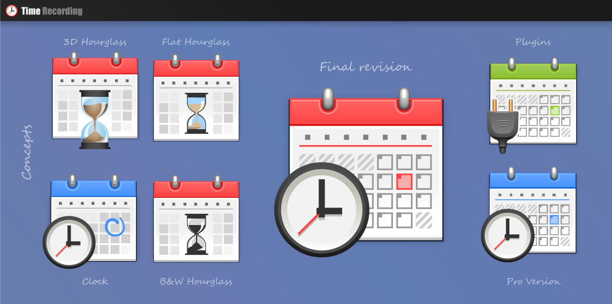 Time Recording - Main Icon and Web Graphic by oldmanmoz on DeviantArt