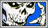 Skeleton Confused 2 Blue Stamp // f2u