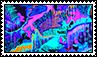 Neon Splatter Stamp // f2u