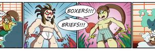 Boxers vs Briefs (Commission)