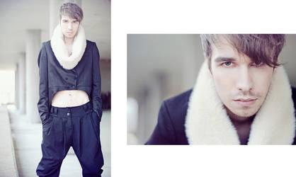 The stylist, styles himself...