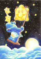 Care Bear Swinging by JamesKnoke
