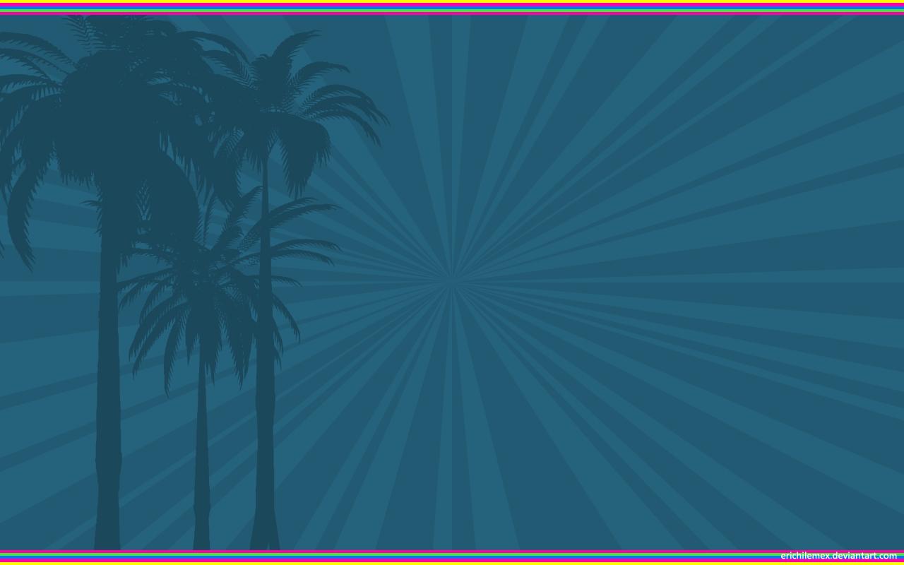 Blue Palmtrees by erichilemex