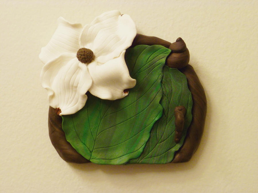 Dogwood Blossom Fairy Door by FlyingFrogCreations