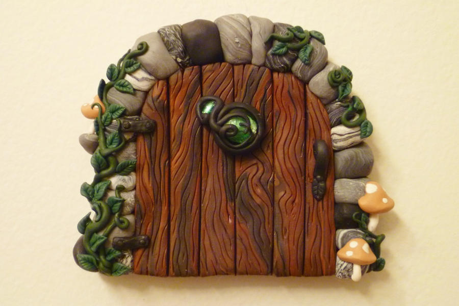 Moss Stone Fairy Door by FlyingFrogCreations ... : clay door - pezcame.com
