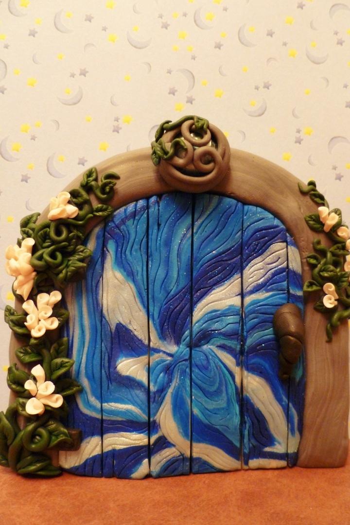 Blue Portal Fairy Door by FlyingFrogCreations