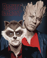 Rocket and Groot by ratscape