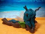 Queen Chrysalis on the beach 2 (polymer figurine)