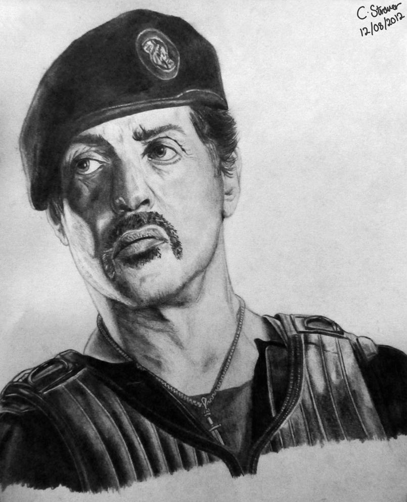 sylvester stallone drawing by lethalchris on deviantart