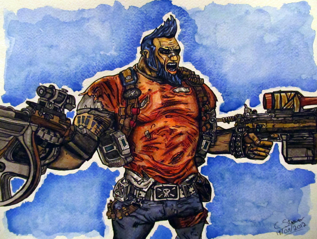 Salvador the Gunzerker - Borderlands 2 Painting by LethalChris
