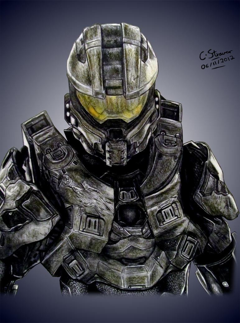 Halo 4 Master Chief Drawing