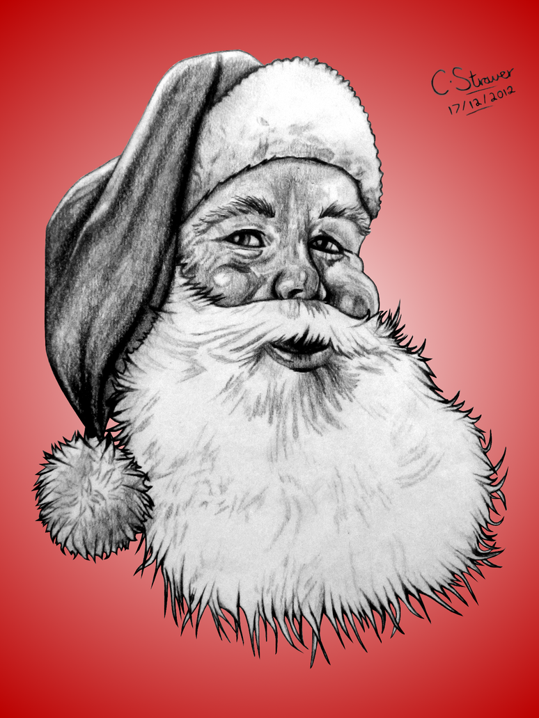 Santa Claus Drawing by LethalChris on DeviantArt