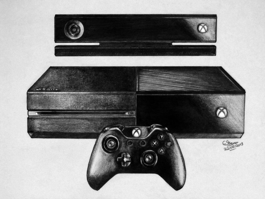 D Line Drawings Xbox One : Xbox one drawing by lethalchris on deviantart