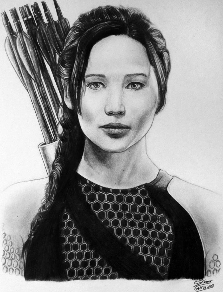 Jennifer Lawrence (Katniss Everdeen) Drawing by LethalChris on