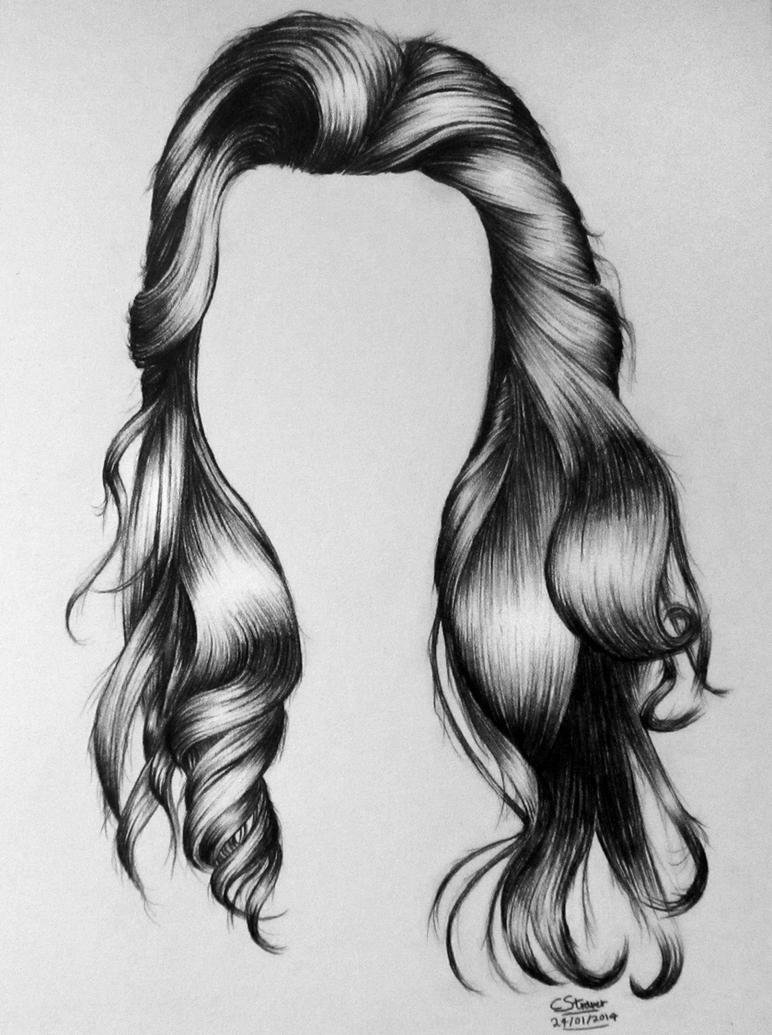 Realistic Hair Drawing By LethalChris On DeviantArt - Hairstyle in drawing