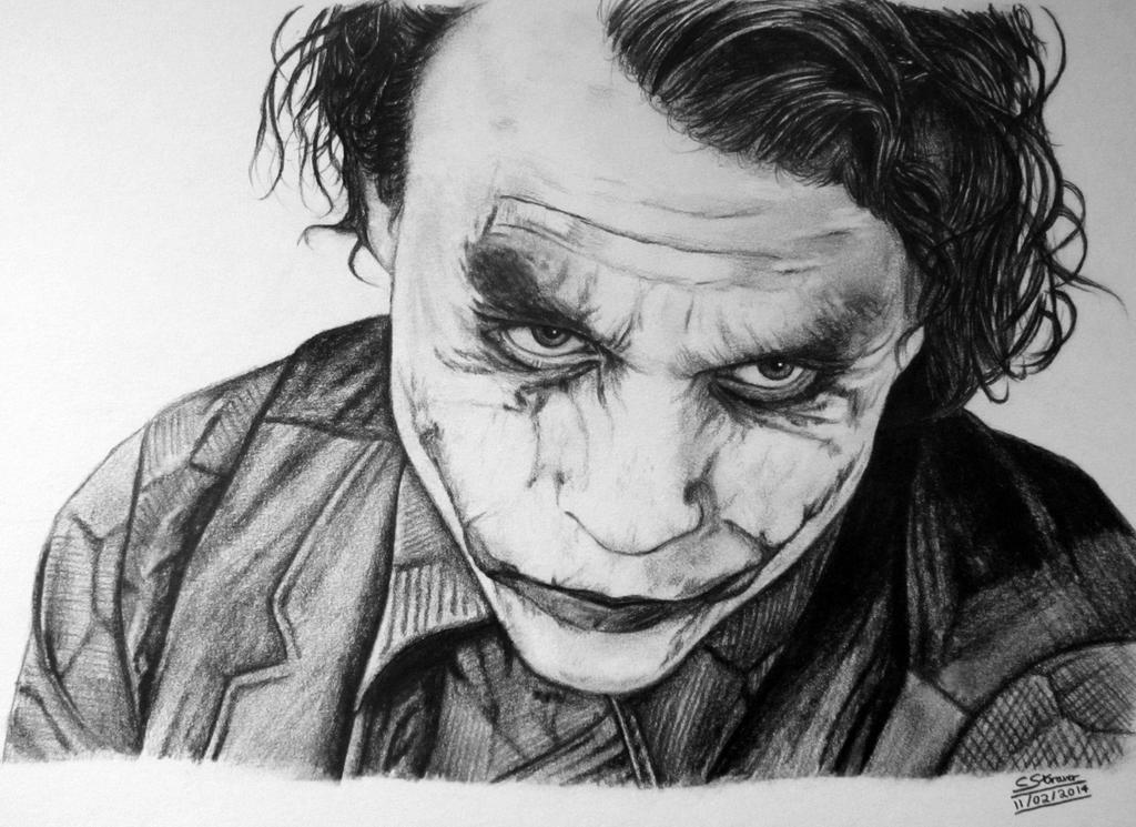 Joker Scribble Drawing : Drawing of heath ledger as the joker by lethalchris on