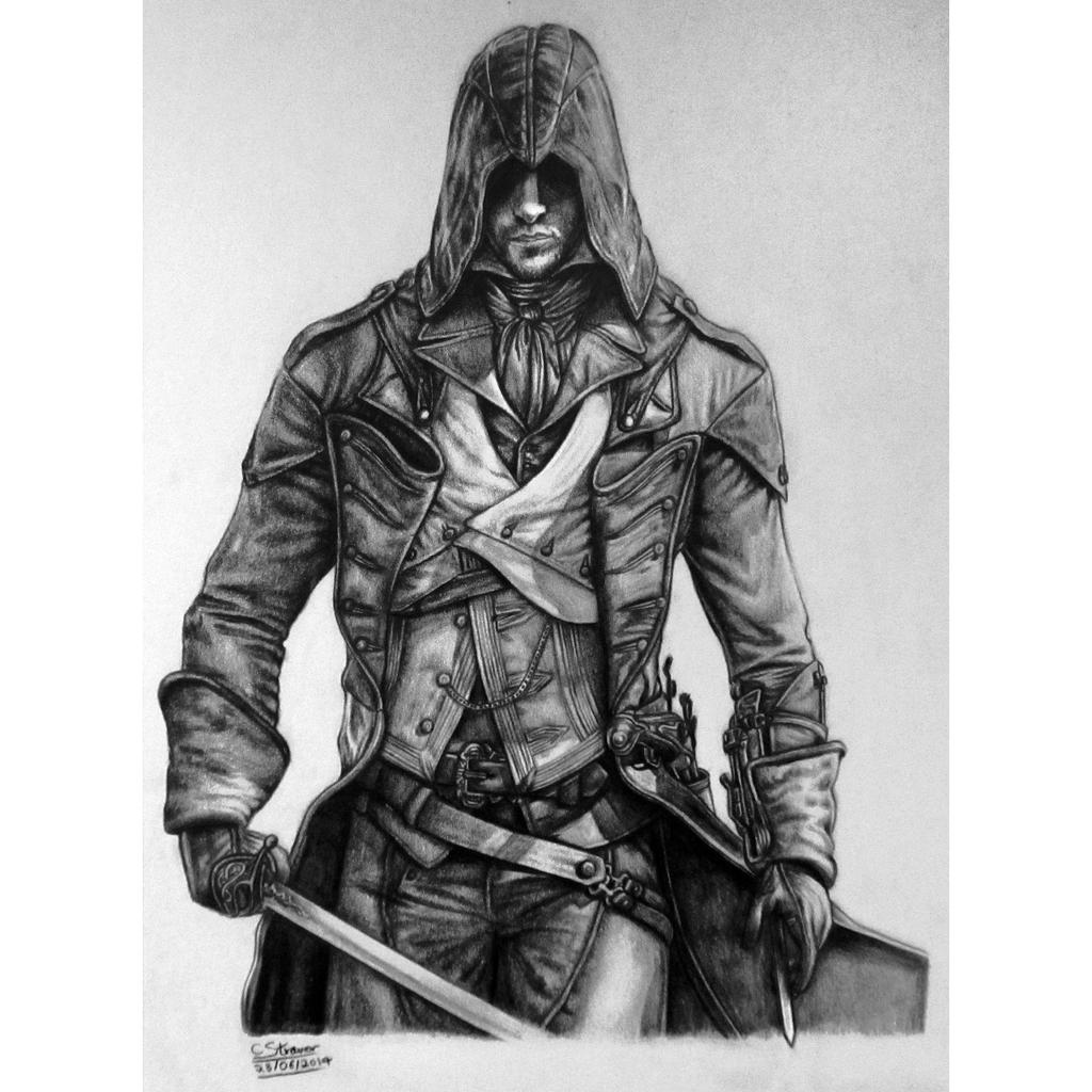 Drawing D Lines In Unity : Assassin s creed unity arno dorian drawing by