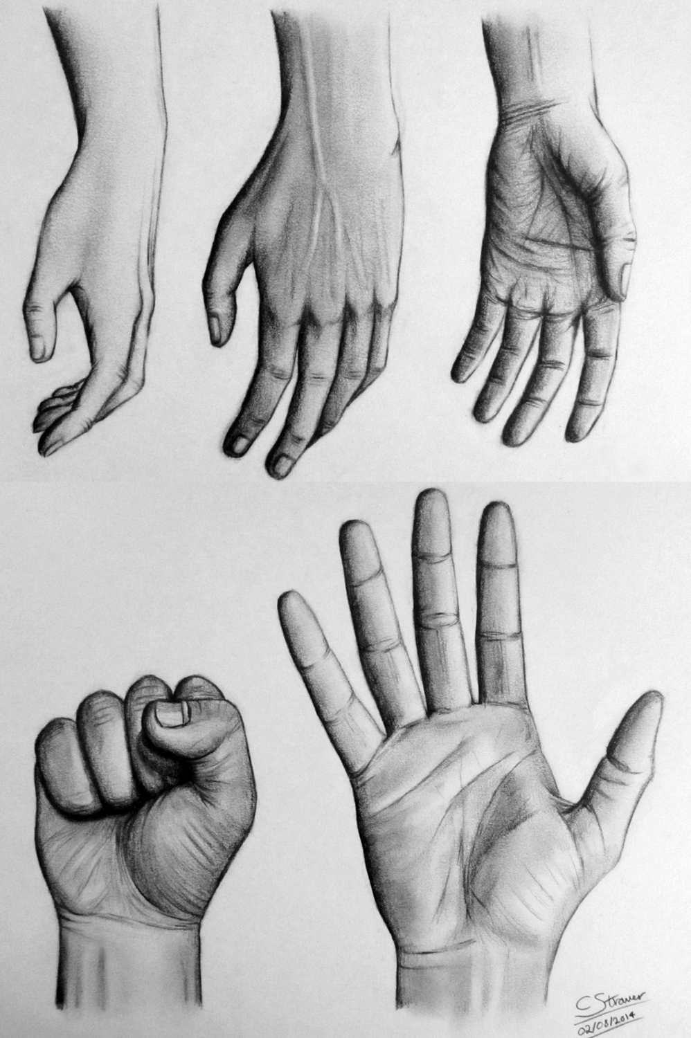 how to draw a hand reaching out towards you