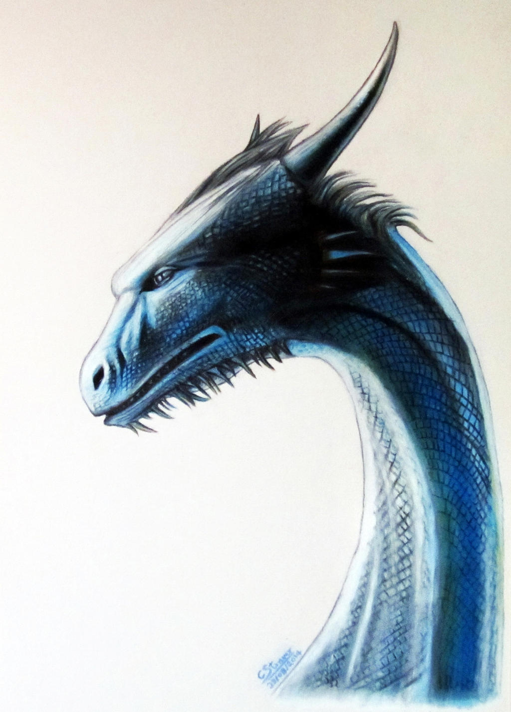 saphira drawing by lethalchris fan art traditional art drawings movies ...