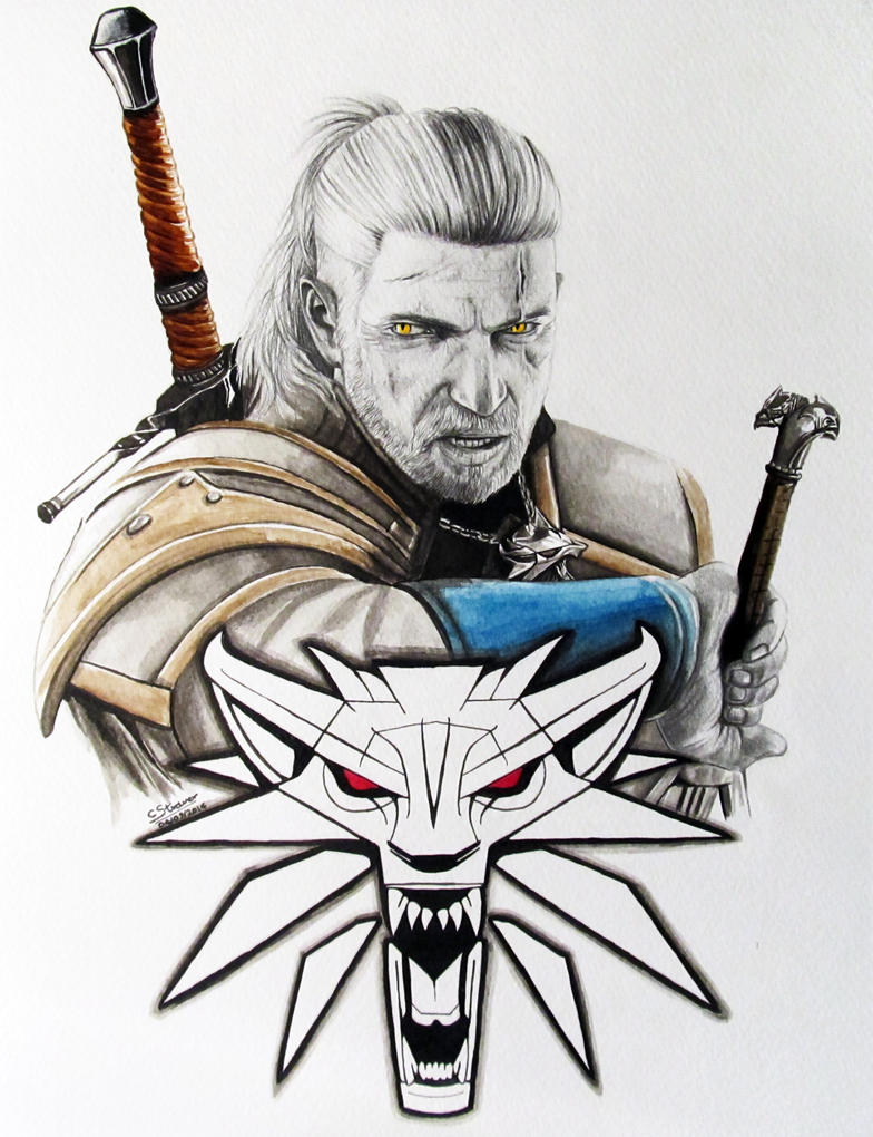 The Witcher 3 - Fan Art Painting by LethalChris