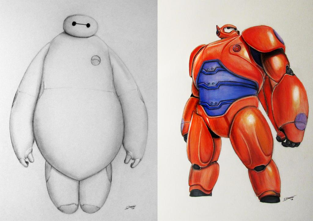 Baymax Drawings - Big Hero 6 Fan Art by LethalChris