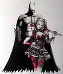 Batman and Harley Quinn Painting
