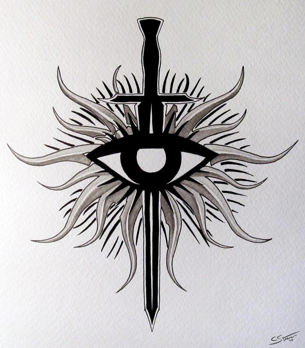 Dragon Age - Inquisition Symbol Fan Art Painting