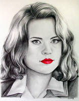 Marvel's Agent Carter - Fan Art Drawing by LethalChris