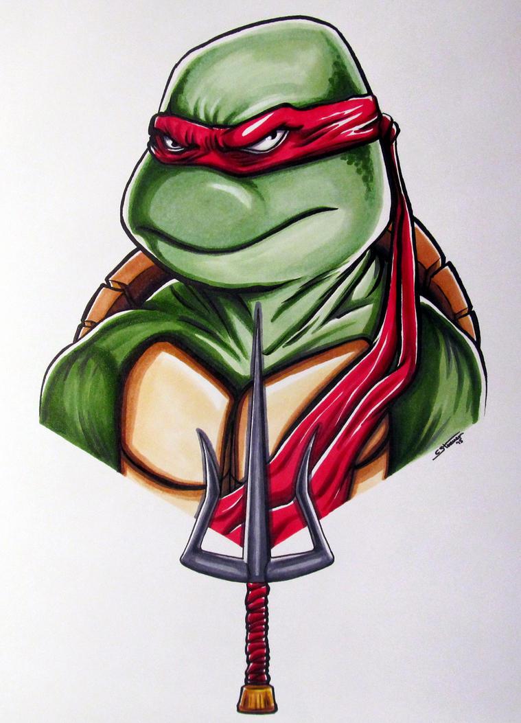 Raphael Drawing - TMNT Fan Art by LethalChris