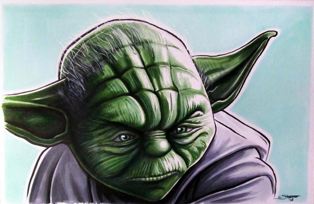 Yoda Fan Art - Copic Marker Drawing