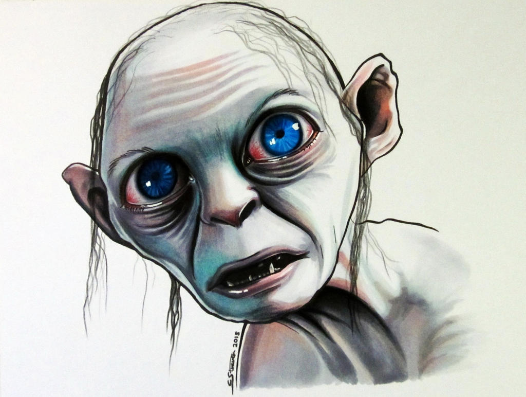 Gollum - Copic Marker Drawing by LethalChris on DeviantArt Copic Markers Drawing