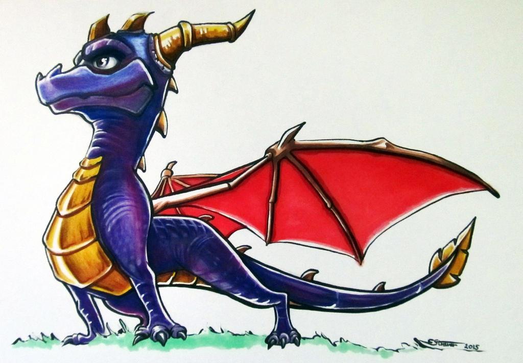 Spyro  Fan Art Drawing By LethalChris On DeviantArt