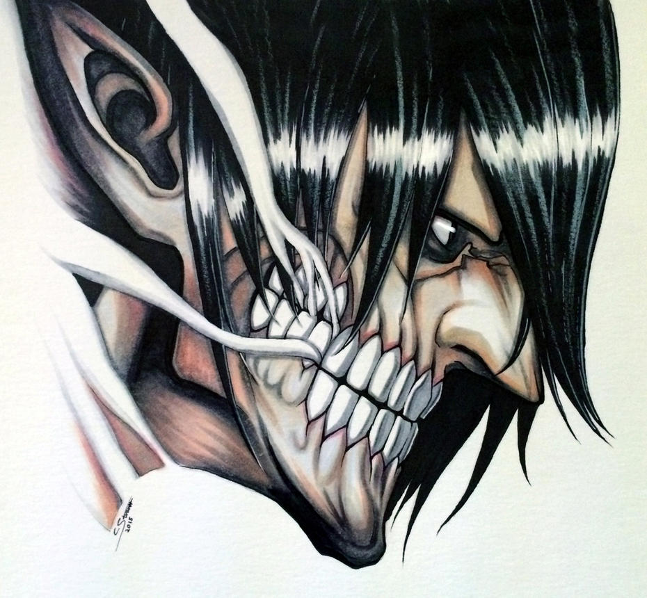 Eren Jaeger (Titan Form) Copic Marker Drawing by LethalChris on ...