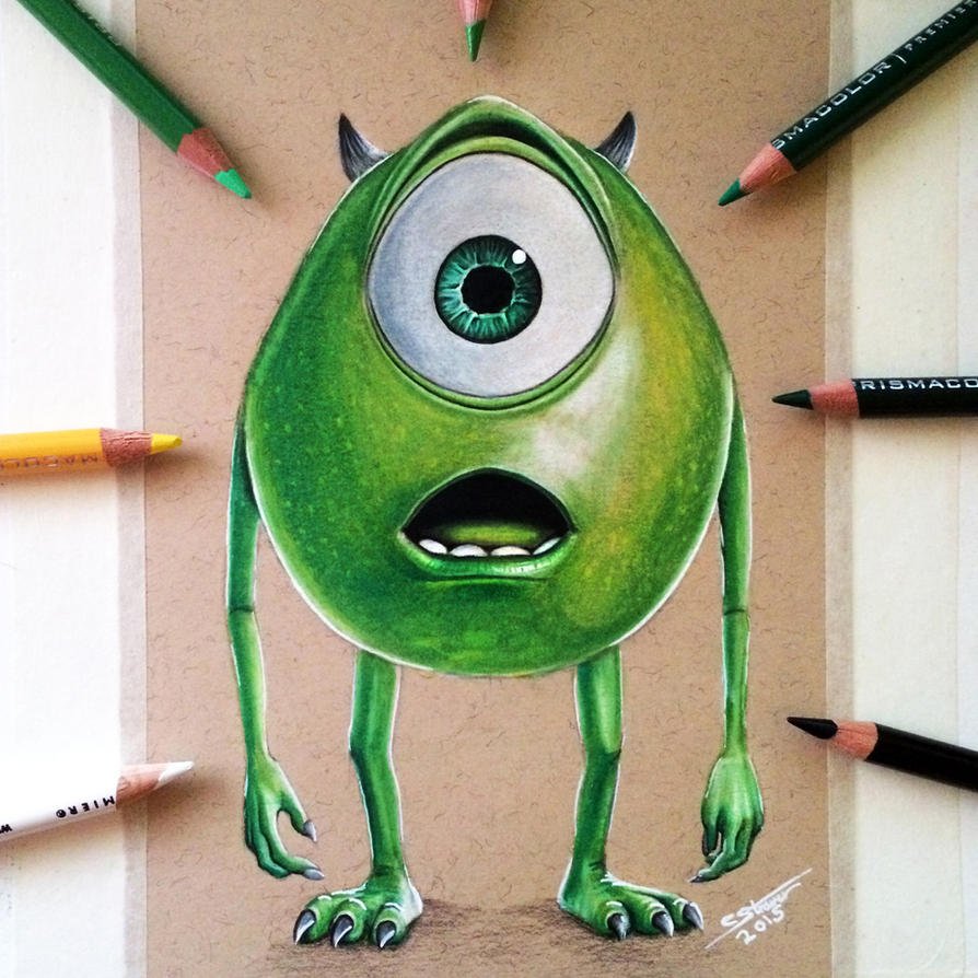 Mike wazowski drawing by lethalchris on deviantart for Cool stuff to draw that s easy