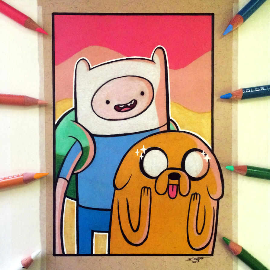 How to Draw Adventure Time Characters Finn, Jake the Dog ...
