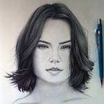 Daisy Ridley Drawing - Rey from Star Wars