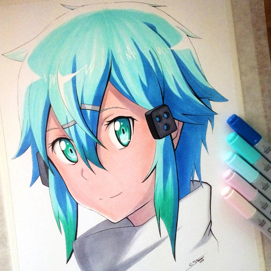 Sinon Copic Marker Drawing - SAO Fan Art by LethalChris on ... Copic Markers Drawing