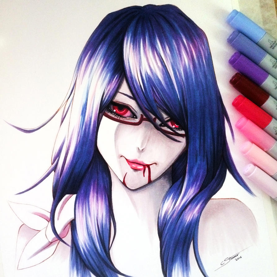 Rize Kamishiro - Copic Marker Drawing by LethalChris on ... Copic Markers Drawing