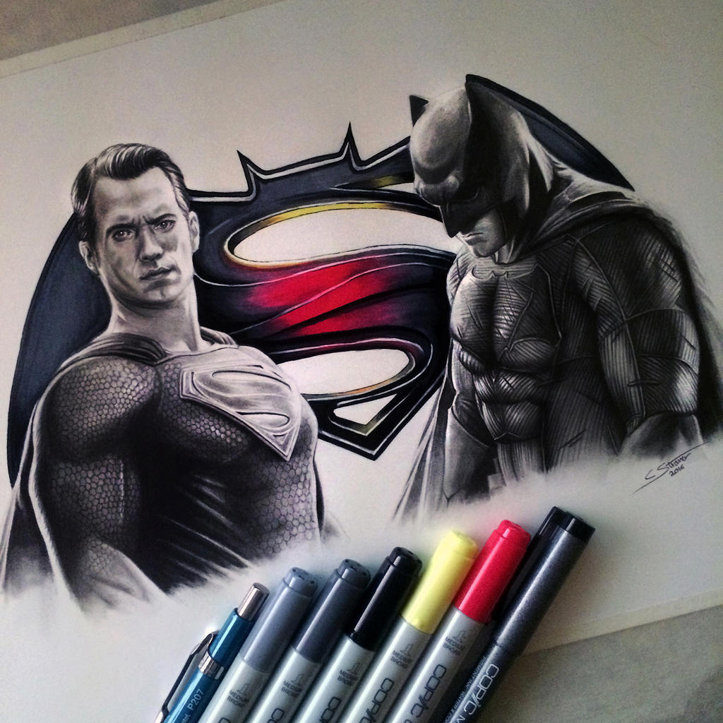 Batman V Superman Drawing By Lethalchris On Deviantart