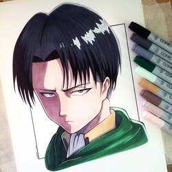 Levi Ackerman Drawing - Attack on Titan Fan Art