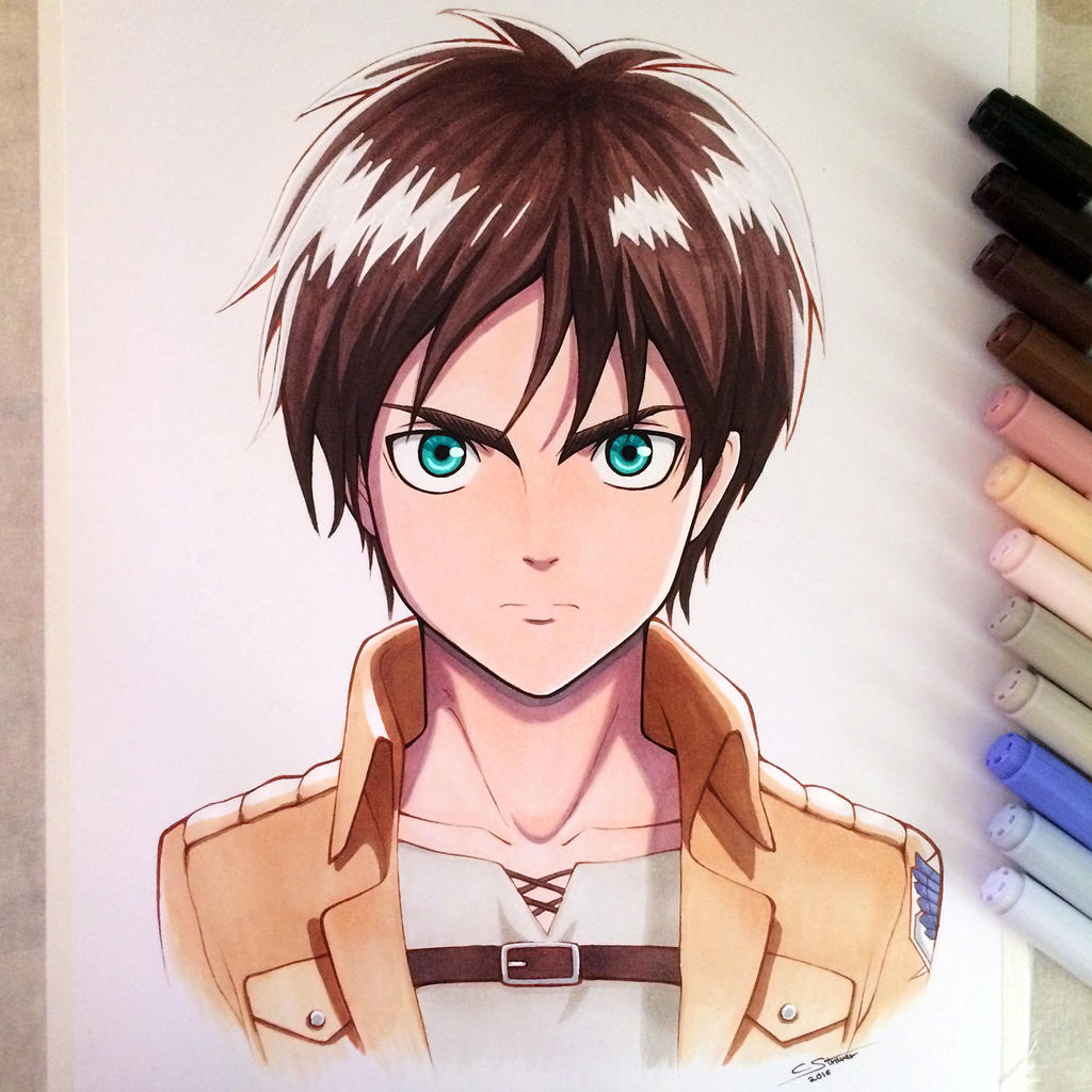 Eren Jaeger - Copic Marker Drawing by LethalChris on ... Copic Markers Drawing