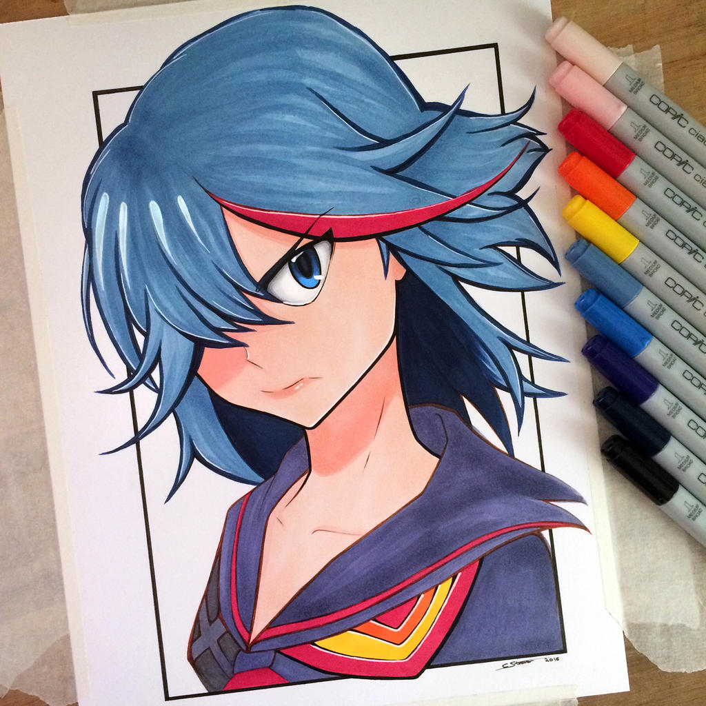Ryuko Matoi - Copic Marker Drawing by LethalChris on ... Copic Markers Drawing