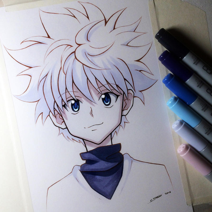 Killua zoldyck from hunter x hunter copic sketch by lethalchris voltagebd Image collections