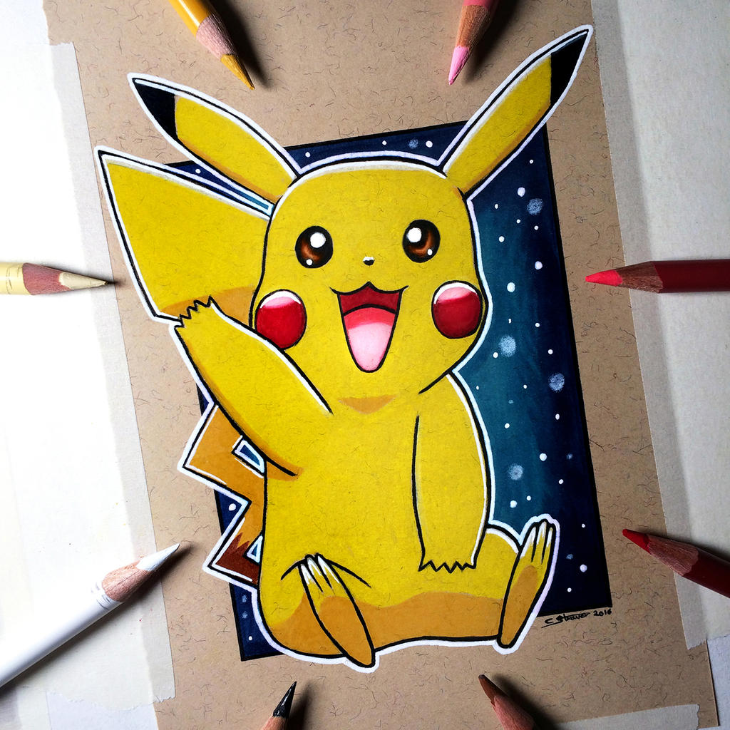 pikachu drawing pokemon fan art by lethalchris on deviantart