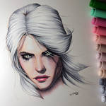 Ciri from The Witcher 3 - Copic Drawing