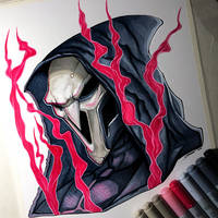 Reaper from Overwatch - Copic Marker Drawing by LethalChris