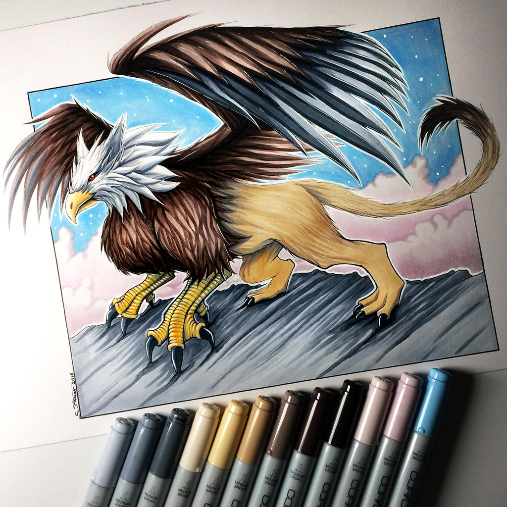 Griffin drawing by lethalchris on deviantart for Die hard tattoo albany oregon